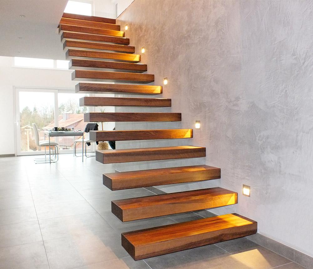 Treppen schreinerwerkstatt sp th for Modernes haus treppe